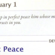 "Feb. 1: ""Perfect Peace"" aka Avoidance (Living Without Jesus, Daily)"